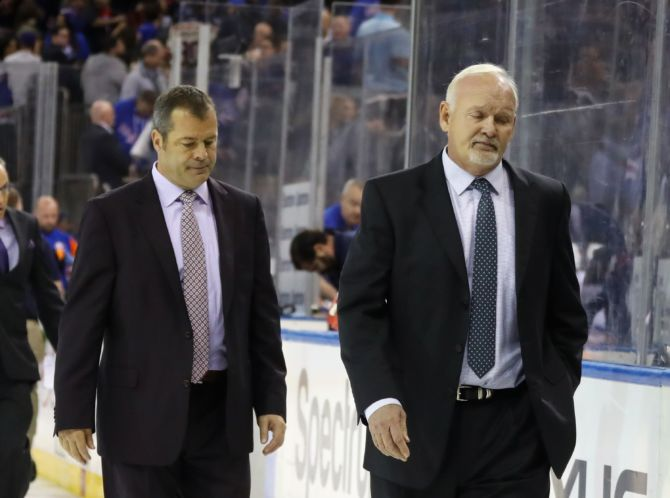 Alain Vigneault with Lindy Ruff