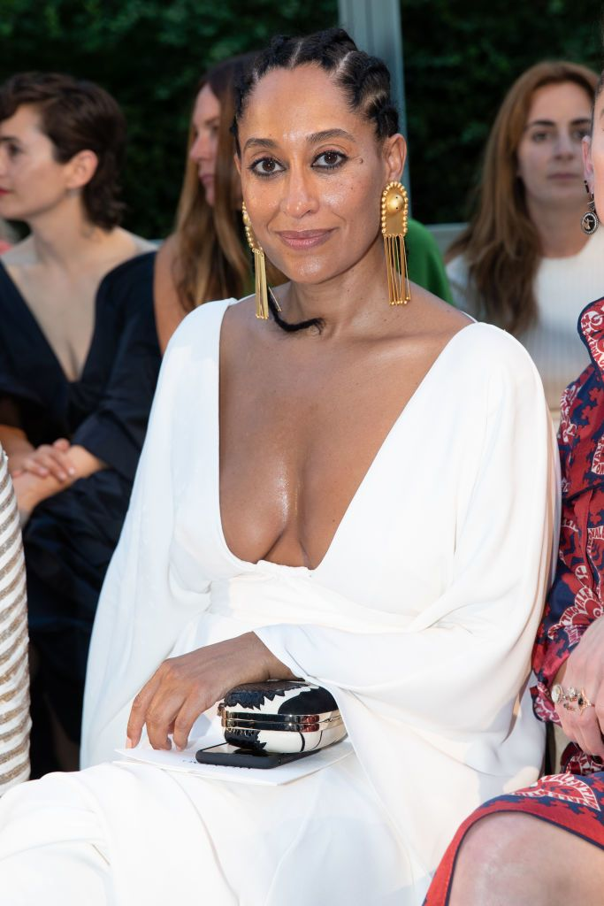 Tracee Ellis Ross showed off her amazing body in a strapless white bikini