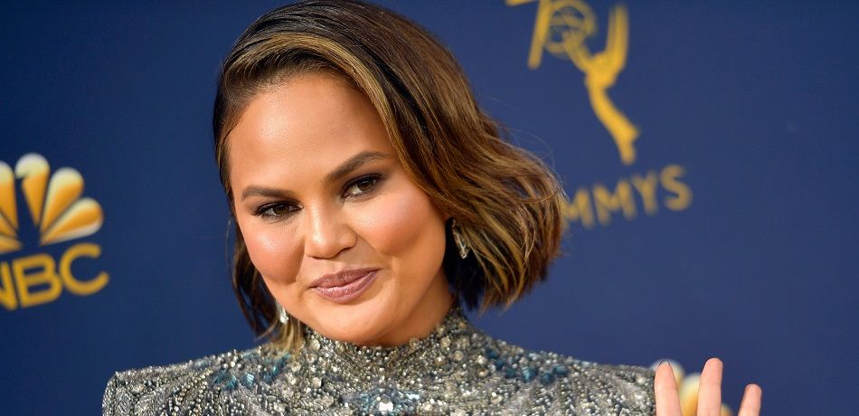 Chrissy Teigen attends the 70th Annual Emmy Awards