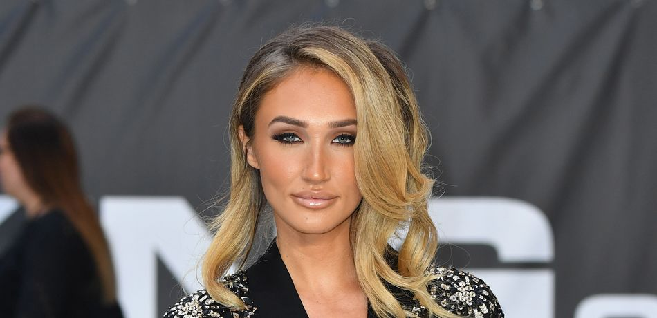 Megan McKenna attends the World Premiere of 'King Of Thieves' at Vue West End on September 12, 2018 in London, England.
