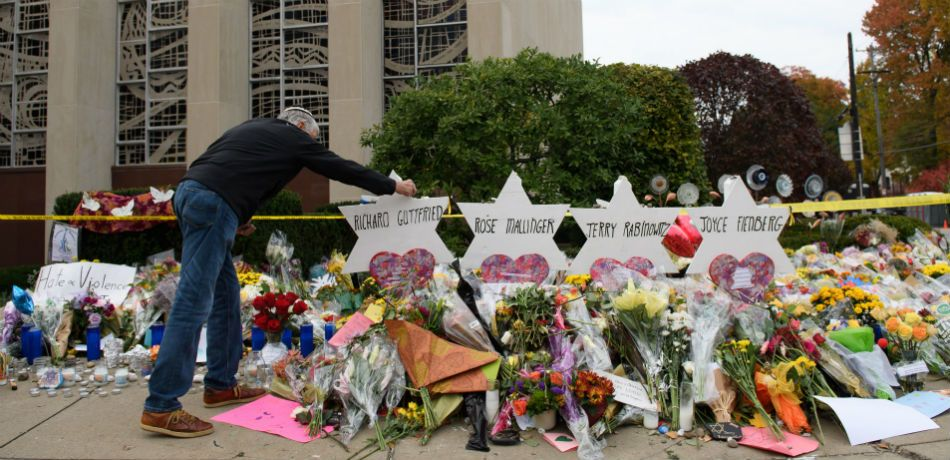 the rabbi of a pittsburgh synagogue told trump that hate speech played a role in the shooting
