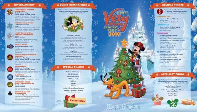 mickey's very merry christmas party map 2018 front characters