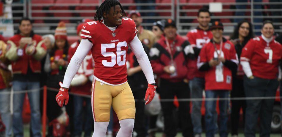 Reuben Foster, then of the 49ers