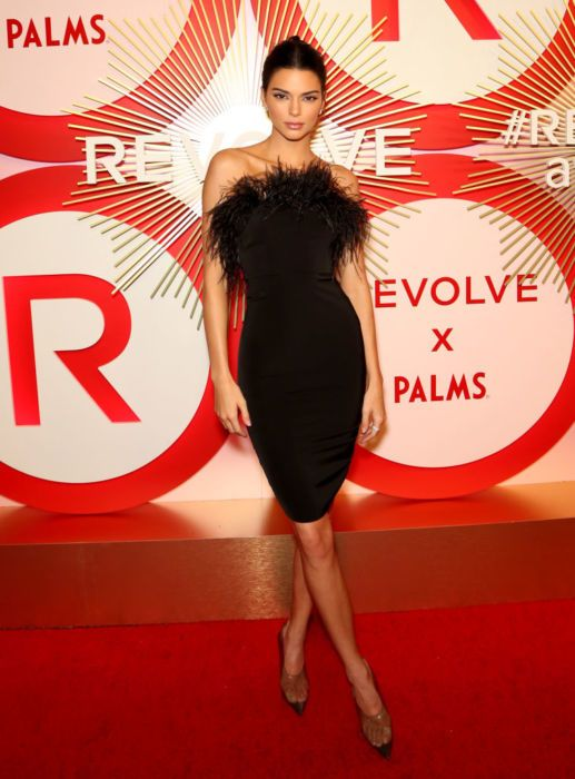 Kendall Jenner attends Revolve's second annual #REVOLVEawards at Palms Casino Resort.
