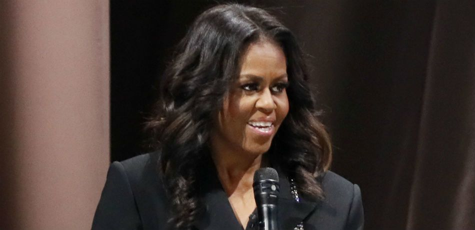 Michelle Obama speaks on stage about her new book in Washington, D.C. on November 17, 2018.