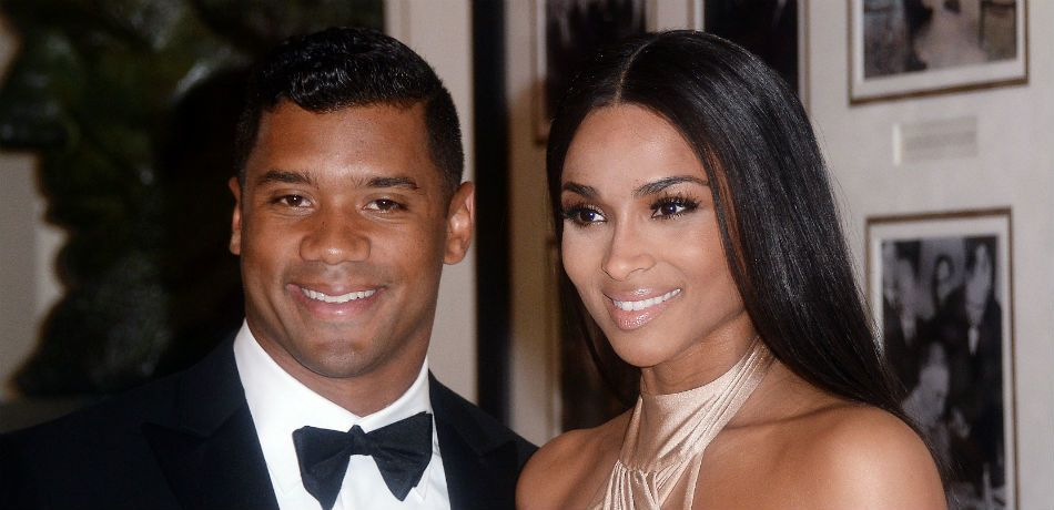 Russell Wilson and Ciara attend a state dinner at the White House.