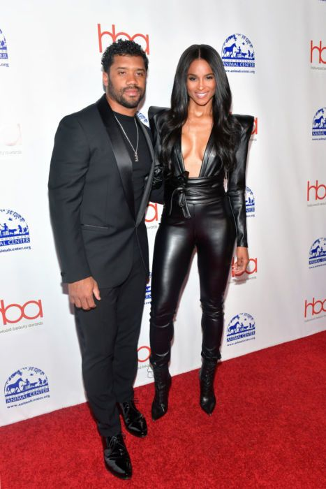 Russell Wilson and Ciara attend the 2019 Hollywood Beauty Awards