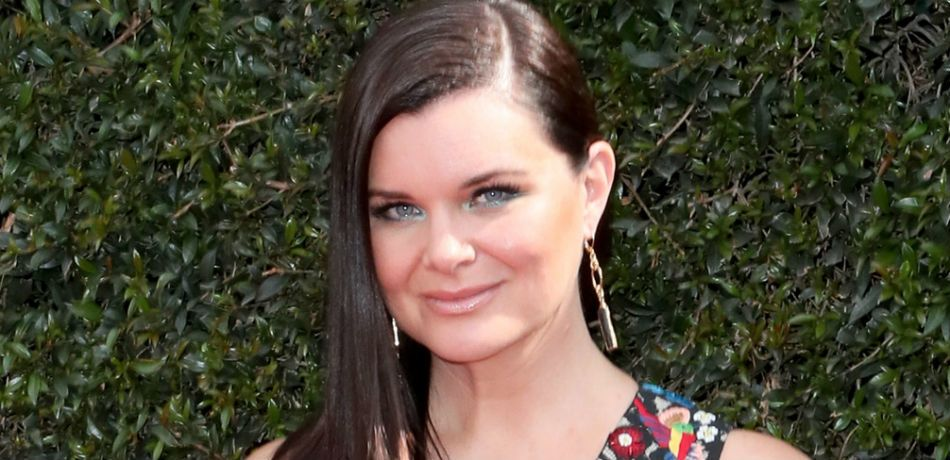 Heather Tom attends the Daytime Emmys.
