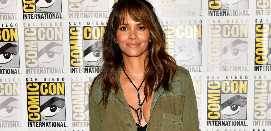 Halle Berry attends Comic-Con International 2017.