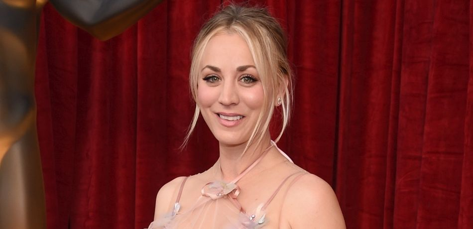 Kaley Cuoco appears at a red carpet event.