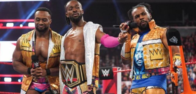 The New Day stand united in the ring.