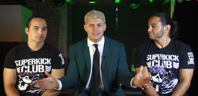 Cody Rhodes and the Young Bucks talk about AEW.