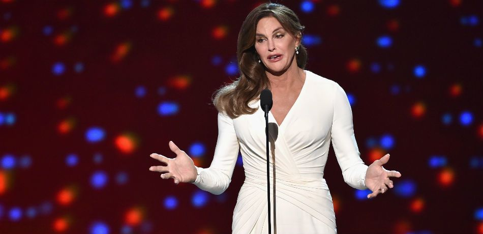 Caitlyn Jenner accepts the Arthur Ashe Courage Award onstage during The 2015 ESPYS at Microsoft Theater on July 15, 2015