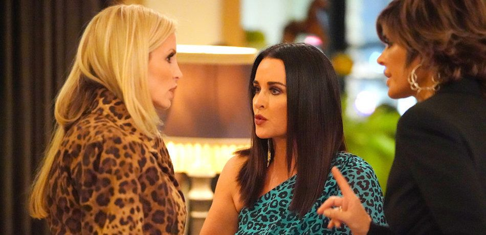 Camille Grammer, Kyle Richards, and Lisa Rinna are seen on 'RHOBH' Season 9.
