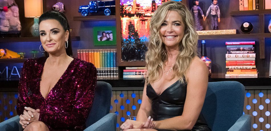 Kyle Richards and Denise Richards appear on 'Watch What Happens Live.'