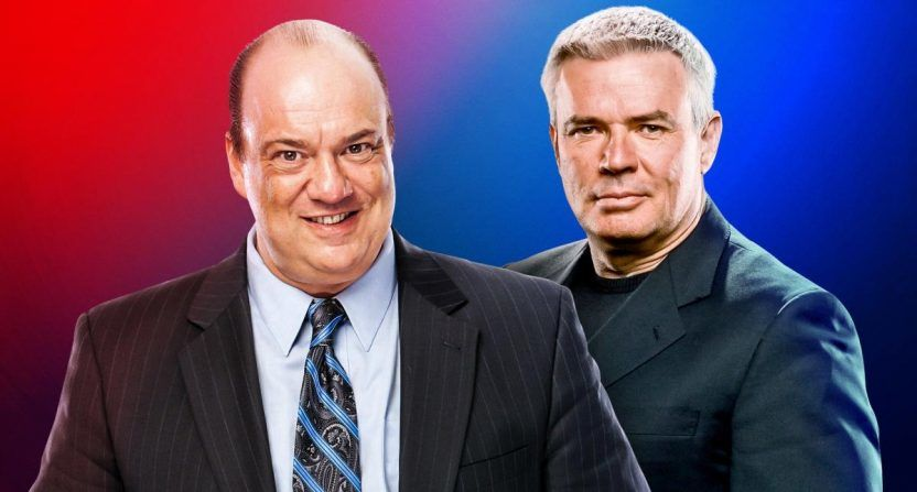 "Paul Heyman and Eric Bischoff are the heads of ""Raw"" and ""SmackDown."""