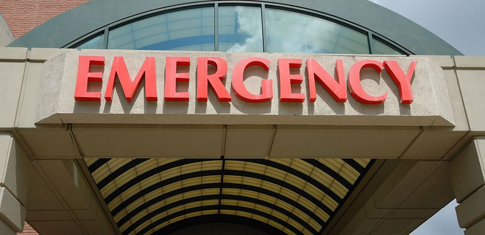 Emergency room sign at a hospital