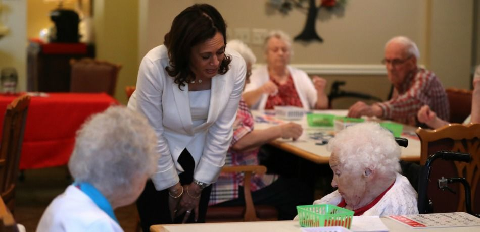 Elderly Woman Confronts Kamala Harris At Iowa Nursing Home, Tells Her To 'Leave Our Health Care Alone'