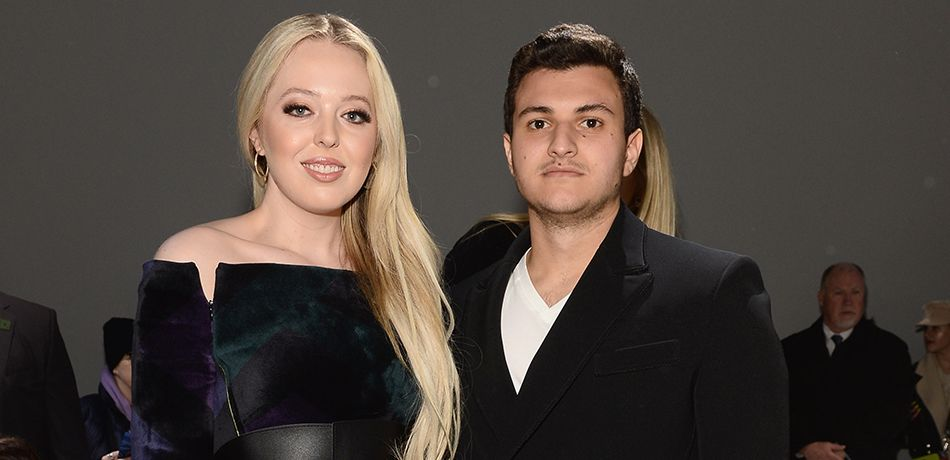 Tiffany Trump and Michael Boulos attend the Taoray Wang front row during New York Fashion Week.