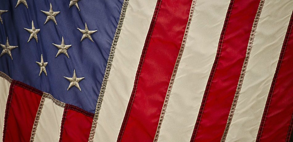 a closeup photo of the american flag