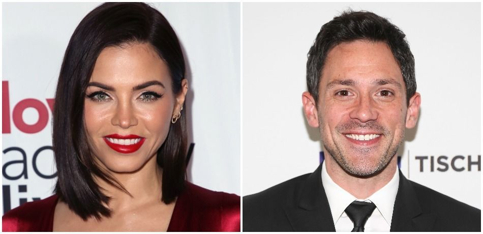 """Jenna Dewan attends the """"Love Actually Live"""" opening night reception at the Wallis Annenberg Center for the Performing Arts on December 12, 2018 in Beverly Hills, California./ Actor Steve Kazee attends NYU's Tisch School Of The Arts' West Coast Benefit Gala at Regent Beverly Wilshire Hotel on October 28, 2013 in Beverly Hills, California."""