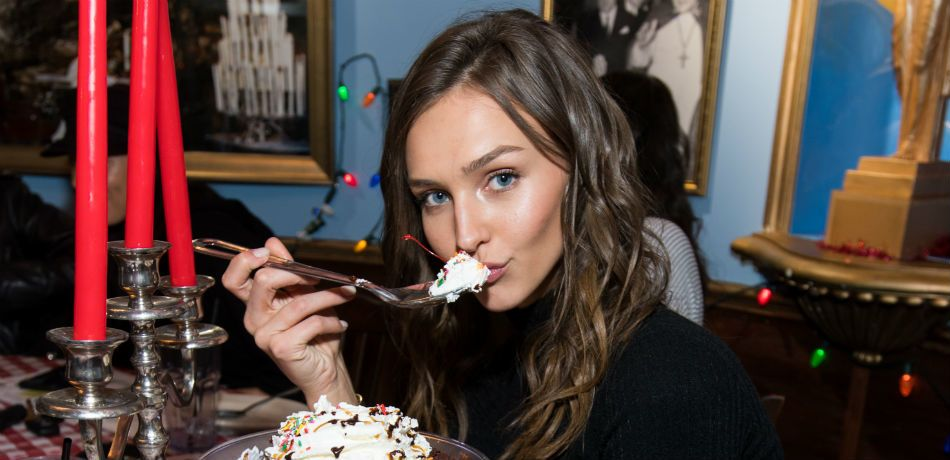 Rachel Cook poses for a photo at her birthday party.