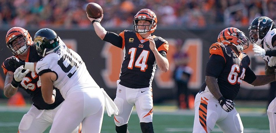 Andy Dalton in an NFL game.