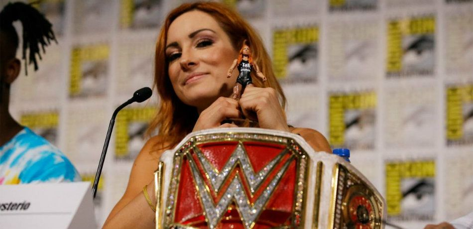 Becky Lynch attends Comic Con in San Diego