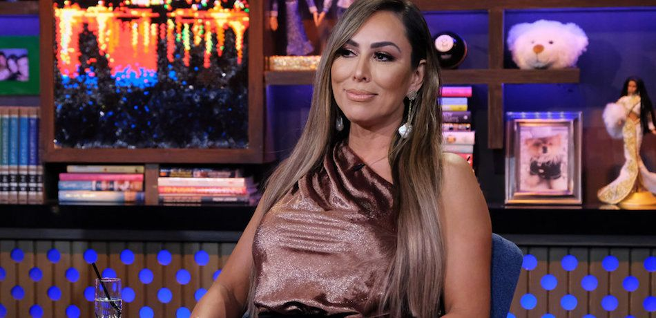 Kelly Dodd is seen on an episode of 'Watch What Happens Live.'