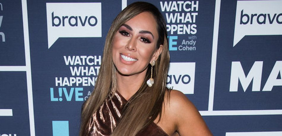 Kelly Dodd is seen at the Bravo Clubhouse.
