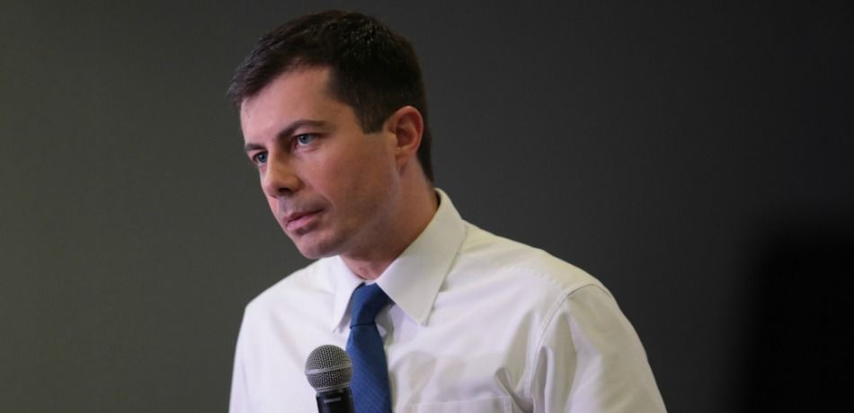 Mayor Pete Buttigieg speaks to guests during a campaign stop at the YMCA on November 25, 2019.