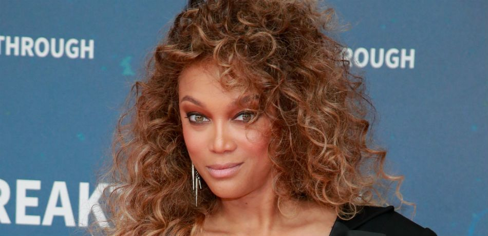 Tyra Banks poses as she attends the 8th Annual Breakthrough Prize Ceremony at NASA Ames Research Center on November 03, 2019 in Mountain View, California.