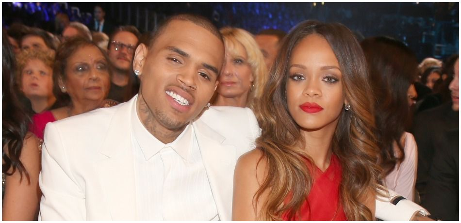Singers Chris Brown and Rihanna attend the 55th Annual GRAMMY Awards