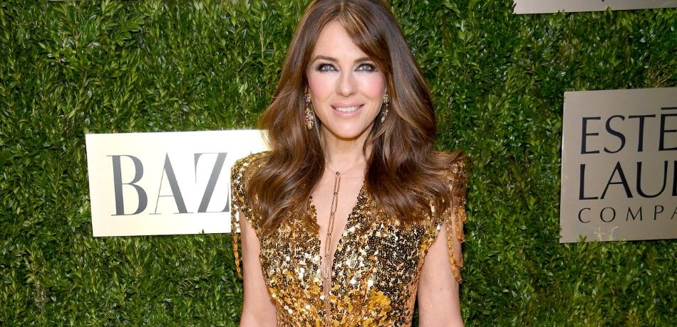 Elizabeth Hurley attends the Lincoln Center Corporate Fashion Gala.