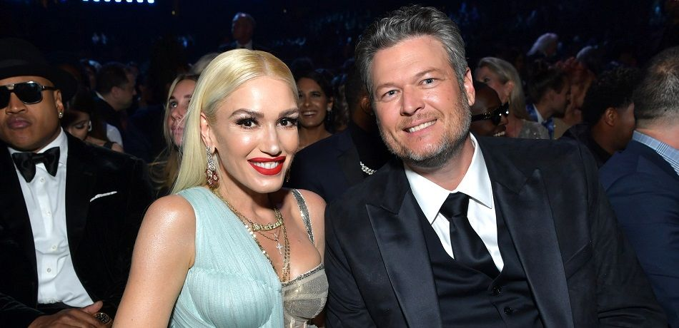 Gwen Stefani and Blake Shelton attend the 62nd Annual GRAMMY Awards at STAPLES Center