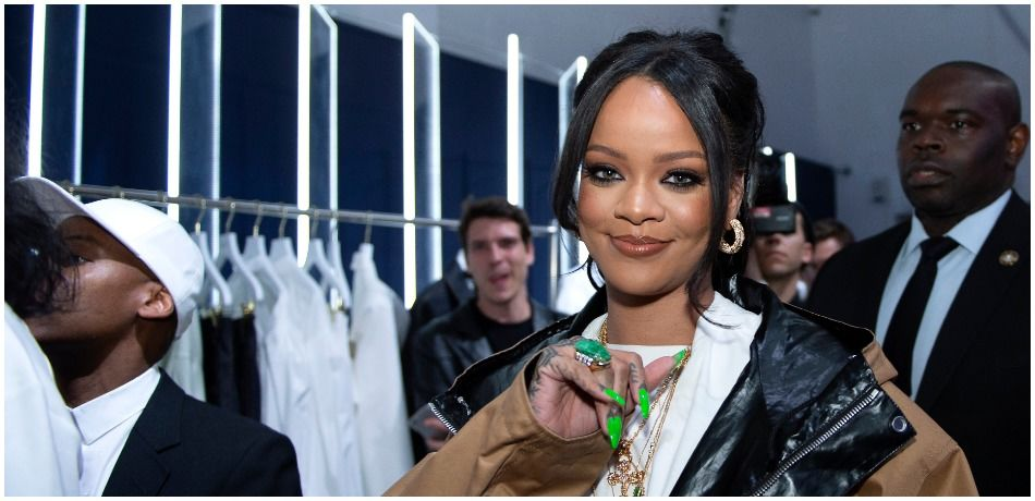 Rihanna attends the Fenty Exclusive Preview on May 23, 2019 in Paris, France.