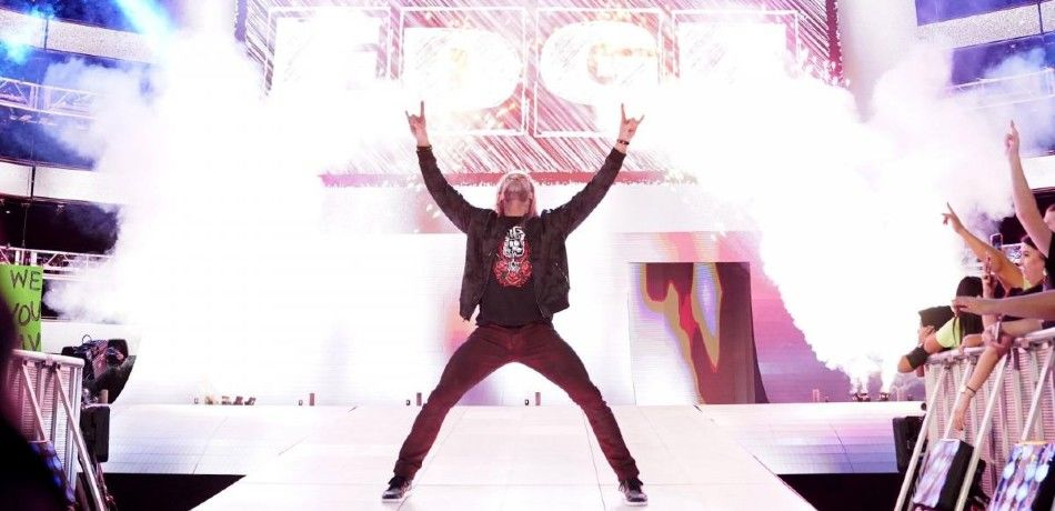 Edge makes his entrance on WWE television