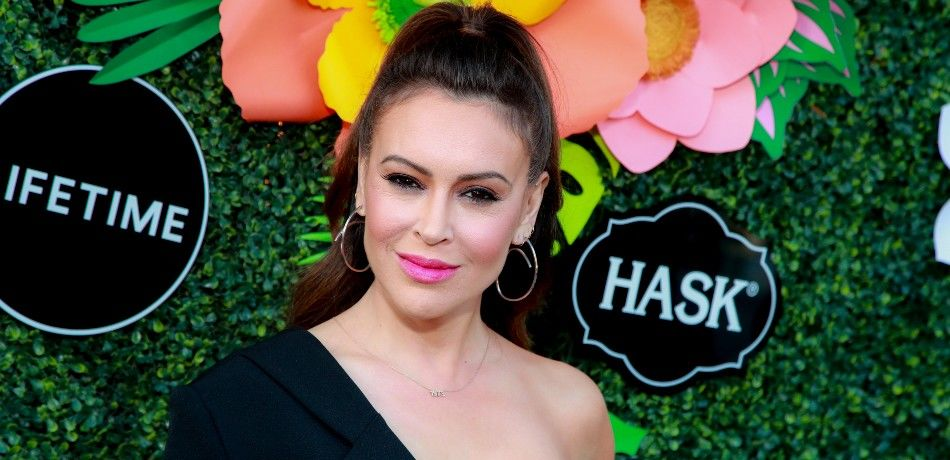 Alyssa Milano Roasted For Sharing Picture Of Her Crocheted Face Mask — But There's More Than Meets The Eye