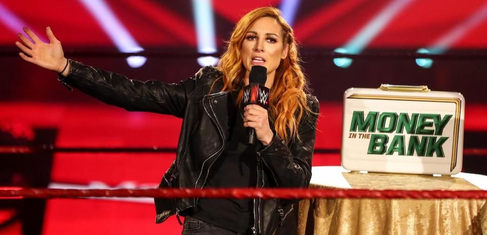 Becky Lynch cuts a promo announcing her pregnancy on the May 11, 2020, episode of Monday Night Raw.