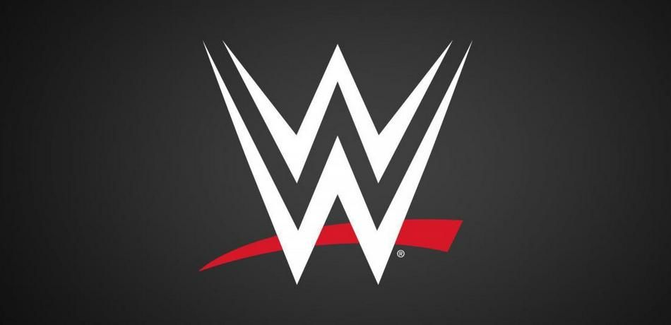 The logo of WWE.