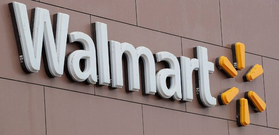 A sign hangs outside Walmart store in Chicago, Illinois.