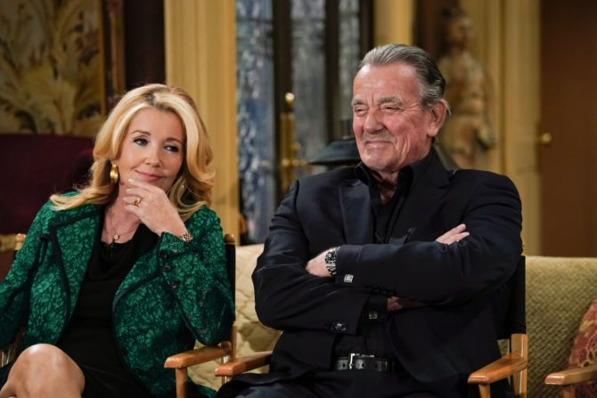 Melody Thomas Scott (Nikki Newman), and Eric Braeden (Victor Newman) reflect on their time together on THE YOUNG AND RESTLESS during a recent Actor Panel on set. Press Event coverage of the CBS series THE YOUNG AND THE RESTLESS, scheduled to air on the CBS Television Network.