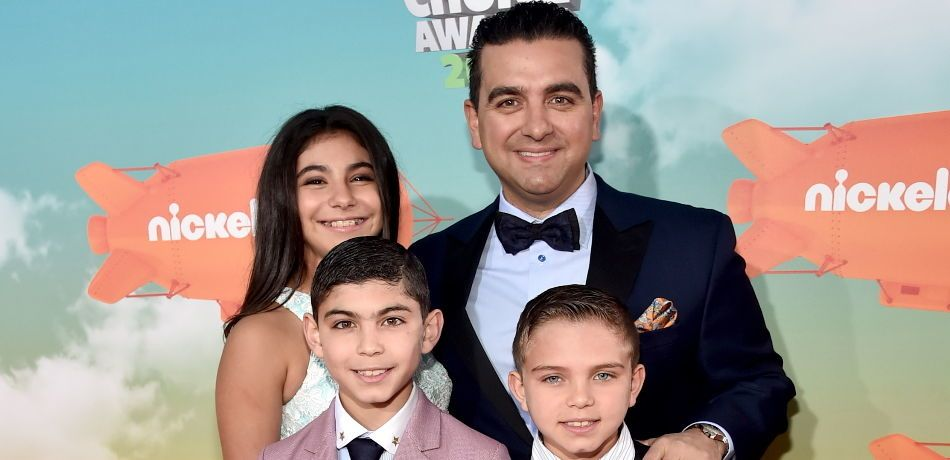 Buddy Valastro, Sofia Valastro, Buddy Valastro Jr. and Marco Valastro attend Nickelodeon's 2016 Kids' Choice Awards