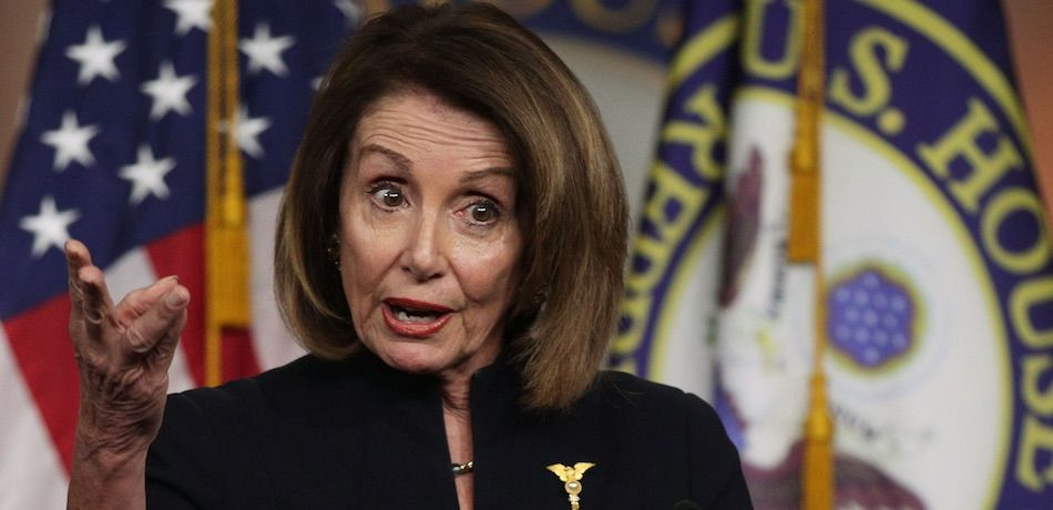 Nancy Pelosi speaks during a weekly news conference
