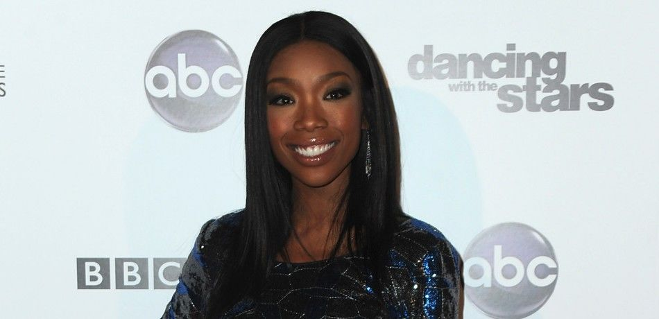 """Singer Brandy arrives to ABC's """"Dancing With The Stars"""" 200th episode party."""