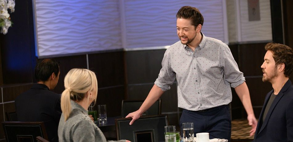 Kirsten Storms, Bradford Anderson, and Wes Ramsey on the set of 'General Hospital'