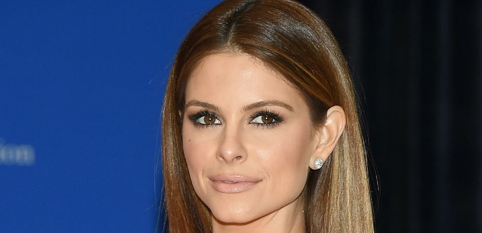 Maria Menounos poses for a photo on the red carpet.