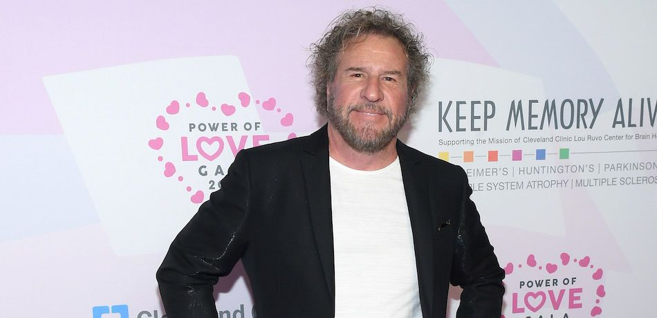 Sammy Hagar poses at an event at the MGM Grand Garden Arena.