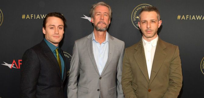 The Succession cast attends an event.