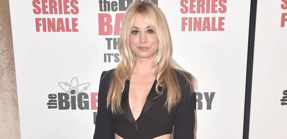Kaley Cuoco attends the series finale party for CBS' 'The Big Bang Theory'